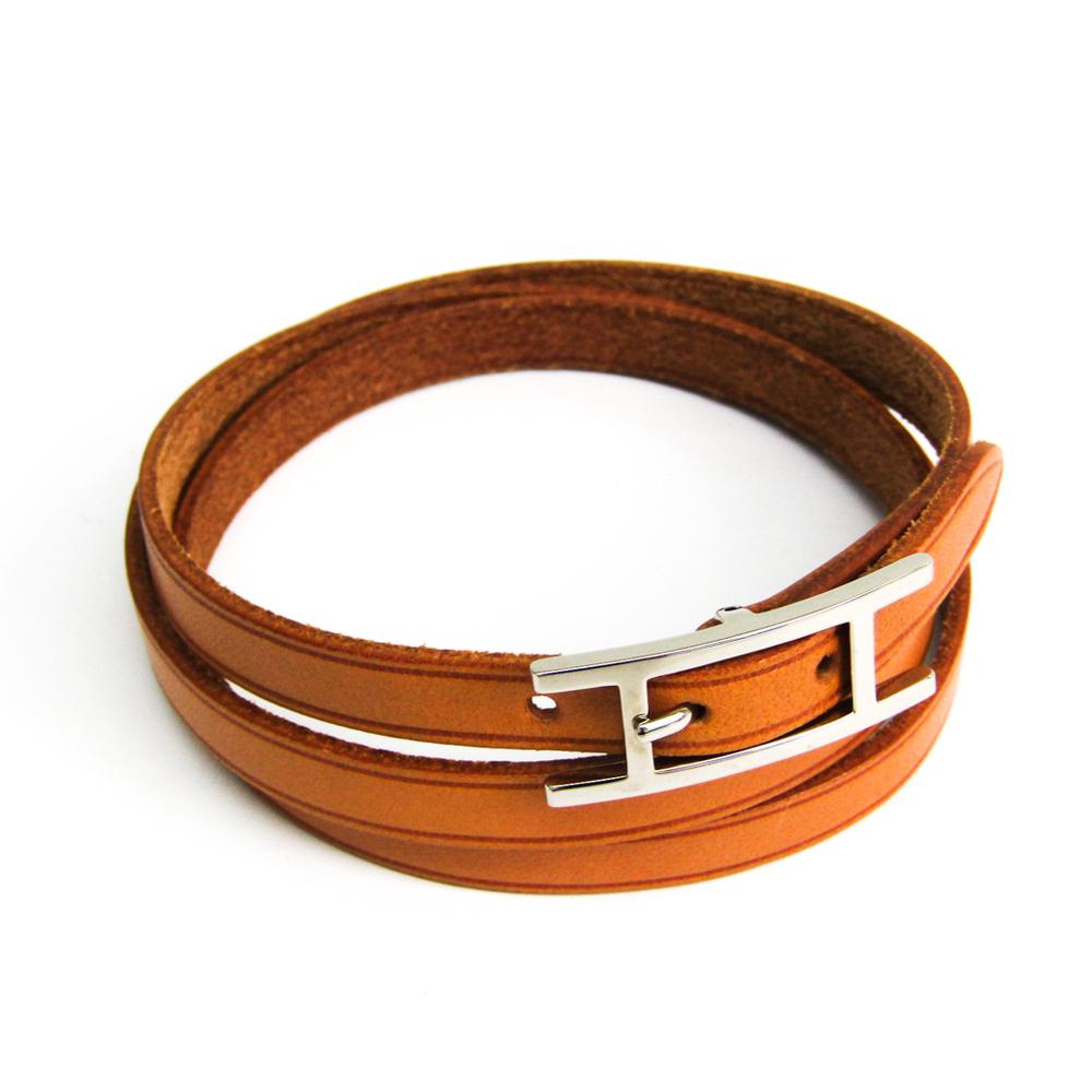 Hermes Hapi III Leather Bracelet Brown