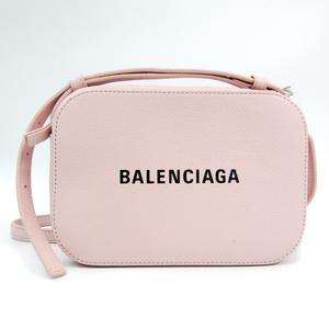 バレンシアガ(Balenciaga) EVERYDAY CAMERA BAG XS 552372 レディース レザー ショルダーバッグ ブラック,ライトピンク