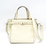 Valextra B Cube V5C67 Women's Leather Handbag,Shoulder Bag Cream
