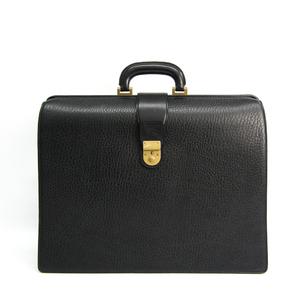 Burberry Doctor Bag Men's Leather Briefcase Black