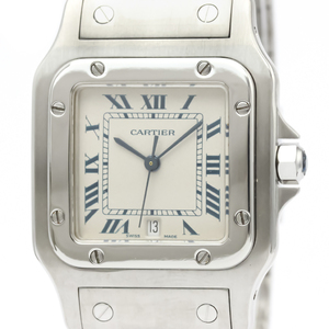 CARTIER Santos Galbee Steel Quartz Mens Watch 987901