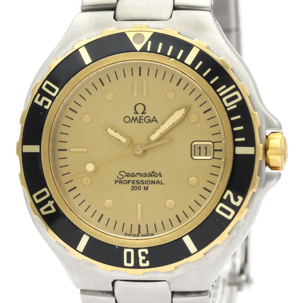 Omega Seamaster Quartz Stainless Steel,Yellow Gold (18K) Men's Sports Watch 396.1042