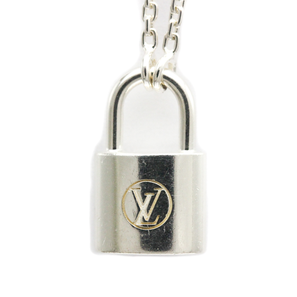 Louis Vuitton Pendantif Cadenas Silver Lockit Silver 925 Necklace (Silver)