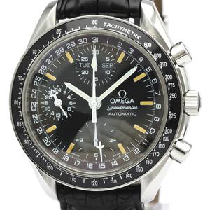【OMEGA】オメガ スピードマスター マーク40 ステンレススチール レザー 自動巻き メンズ 時計 3520.50