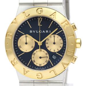 Bvlgari Diagono Quartz Stainless Steel,Yellow Gold (18K) Men's Dress Watch CH35SG