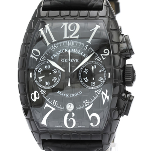 Franck Muller Cintree Curvex Automatic Stainless Steel Men's Sports Watch 8880 CC AT BLK CRO
