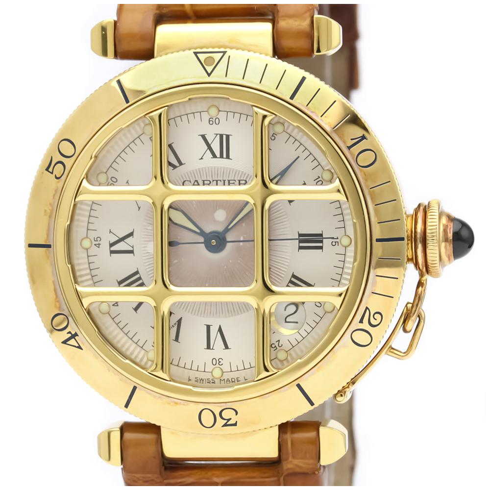 Cartier Pasha 38 Automatic Yellow Gold (18K) Men's Dress Watch