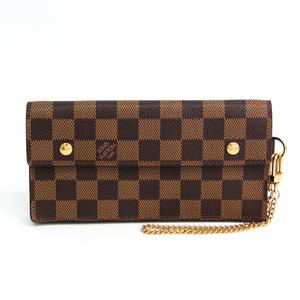 ルイ・ヴィトン(Louis Vuitton) ダミエ ポルト フォイユ アコルディオン N60002 ダミエキャンバス 長財布(二つ折り) エベヌ