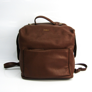 Furla Daphne M Women's Leather Backpack Dark Brown