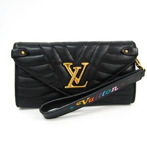 ルイ・ヴィトン(Louis Vuitton) ニューウェーブ ロングウォレット M63298 レディース  スムースカーフ 長財布(二つ折り) ノワール