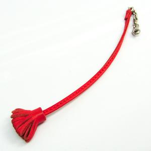 Hermes Bookmark Carmencita 17 Pink Red Leather