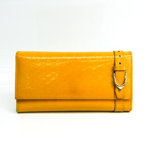 グッチ(Gucci) マイクログッチッシマ 309760 レディース  エナメルレザー 長財布(二つ折り) イエロー