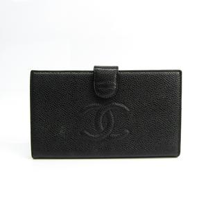 シャネル(Chanel) A13498 レディース キャビアスキン 長財布(二つ折り) ブラック