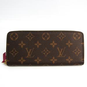 ルイ・ヴィトン(Louis Vuitton) モノグラム ポルトフォイユ・クレマンス M60742 レディース モノグラム 長財布(二つ折り) フューシャ,モノグラム