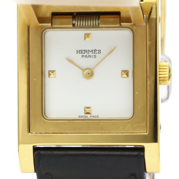 Hermes Medor Quartz Gold Plated Women's Dress Watch