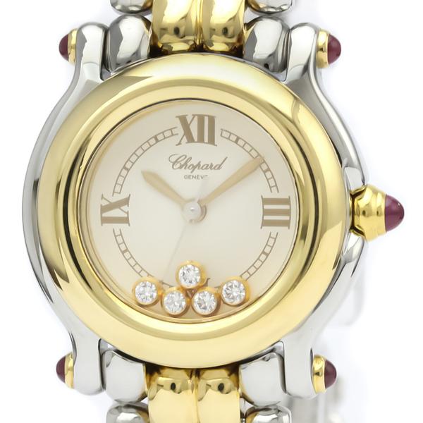 Chopard Happy Sport Quartz Stainless Steel,Yellow Gold (18K) Women's Dress Watch 27/8278-21