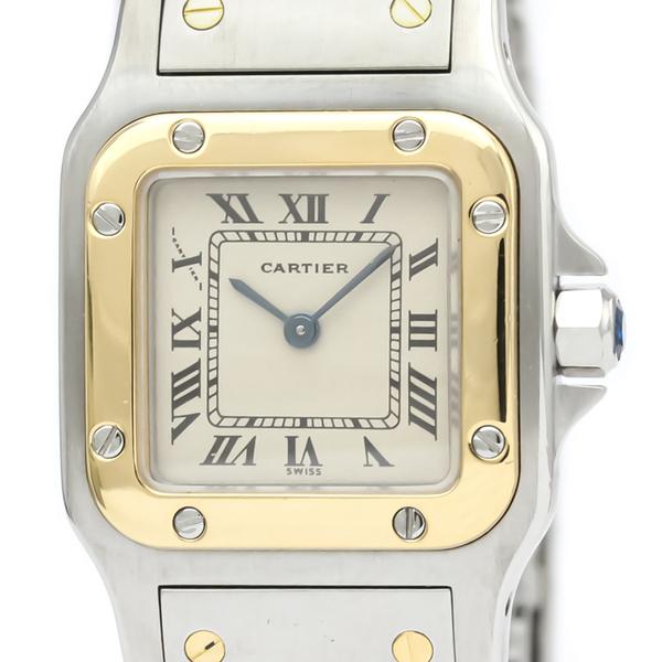 Cartier Santos Galbee Quartz Stainless Steel,Yellow Gold (18K) Women's Dress Watch 166930
