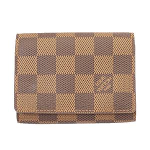 Auth Louis Vuitton Damier N62920 Business Card Case Ebene