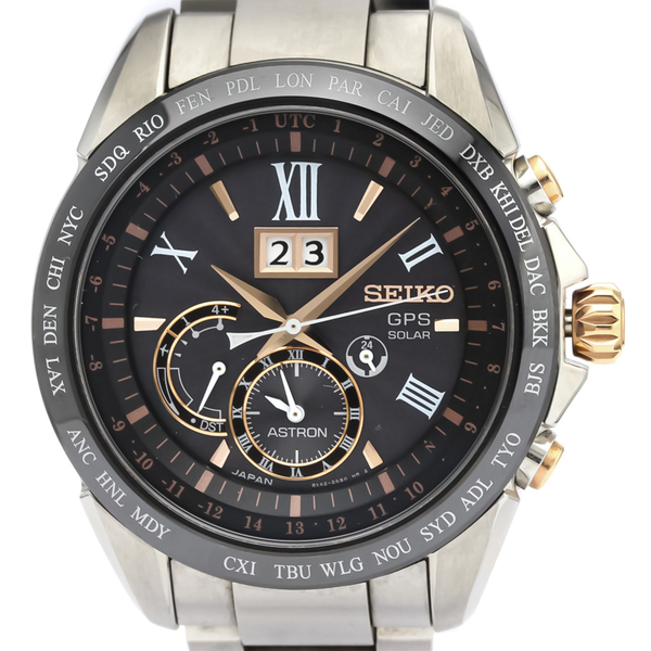 Seiko Astron Solar Ceramic,Stainless Steel Men's Sports Watch SBXB151(8X42-0AE0)