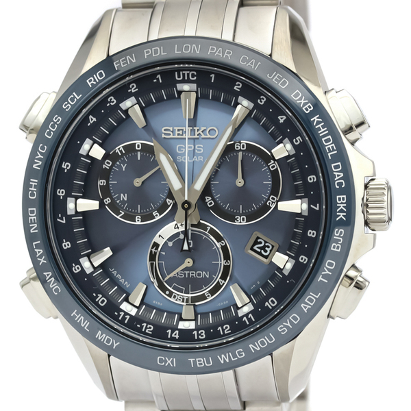 Seiko Astron Solar Ceramic,Titanium Men's Sports Watch SBXB005(8X82-0AB0)