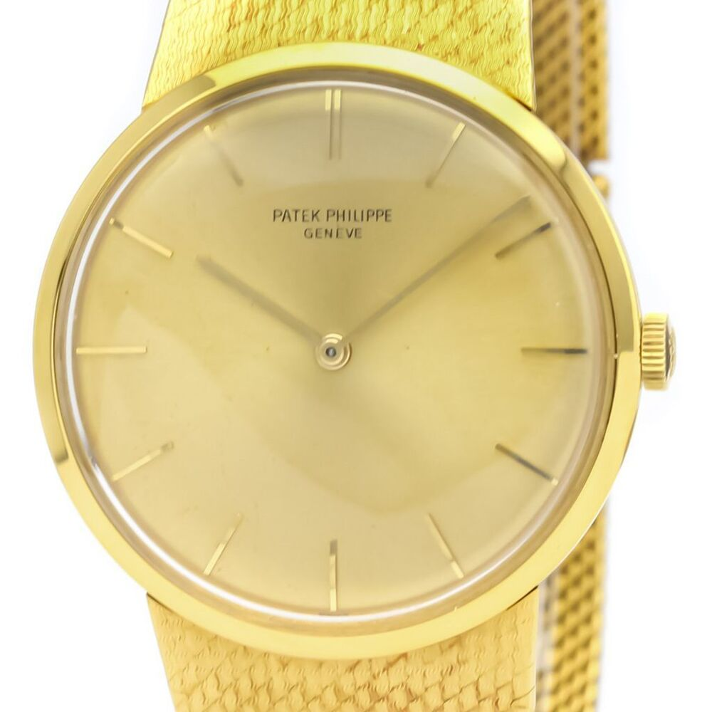 Patek Philippe Calatrava Mechanical Yellow Gold (18K) Men's Dress Watch 3562
