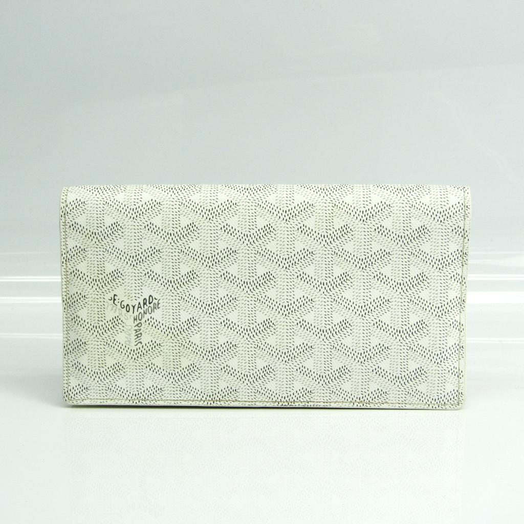 ゴヤール(Goyard) リシュリュー ヘリンボーン APM205 ユニセックス コーティングキャンバス,レザー 長財布(二つ折り) グレー,ホワイト