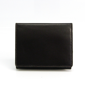 Valextra Leather Card Case Dark Brown