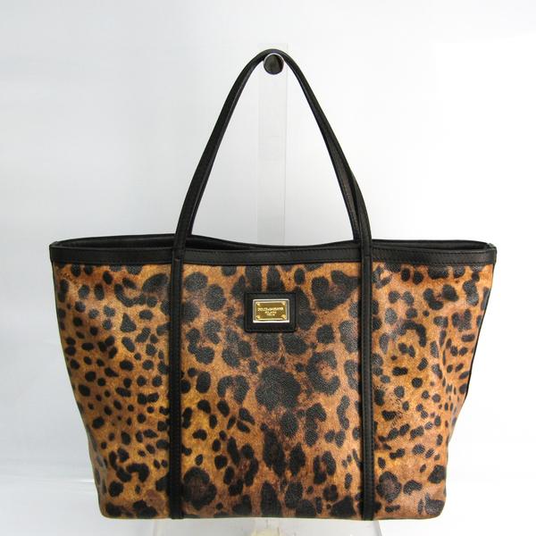 Dolce & Gabbana Women's Leather,PVC Tote Bag Black,Brown