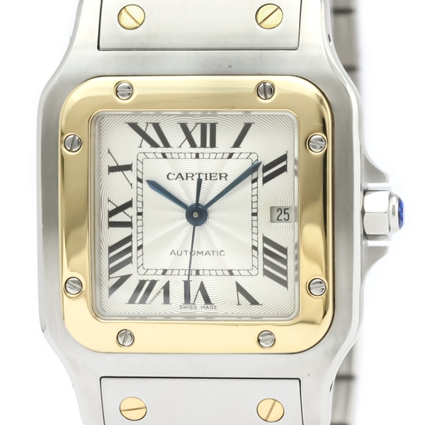 Cartier Santos Galbee Automatic Stainless Steel,Yellow Gold (18K) Men's Dress Watch W20058C4