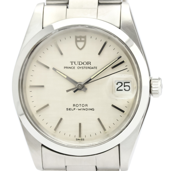 TUDOR Prince Oyster Date Steel Automatic Mens Watch 74000N