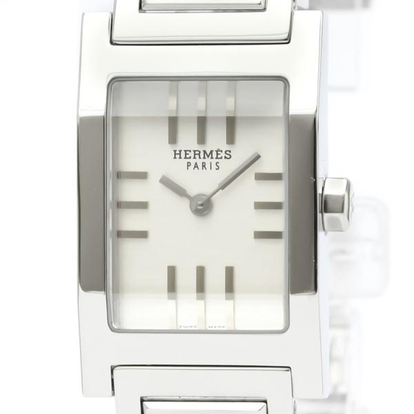 Hermes Tandem Quartz Stainless Steel Women's Dress Watch TA1.210