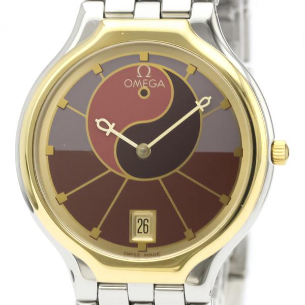 Omega De Ville Quartz Stainless Steel,Yellow Gold (18K) Men's Dress Watch 396.1016