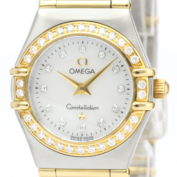 Omega Constellation Quartz Stainless Steel,Yellow Gold (18K) Women's Dress Watch 1267.70
