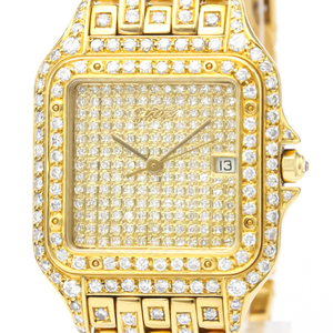 Cartier Panthere De Cartier Quartz Yellow Gold (18K) Men's Dress Watch 887968
