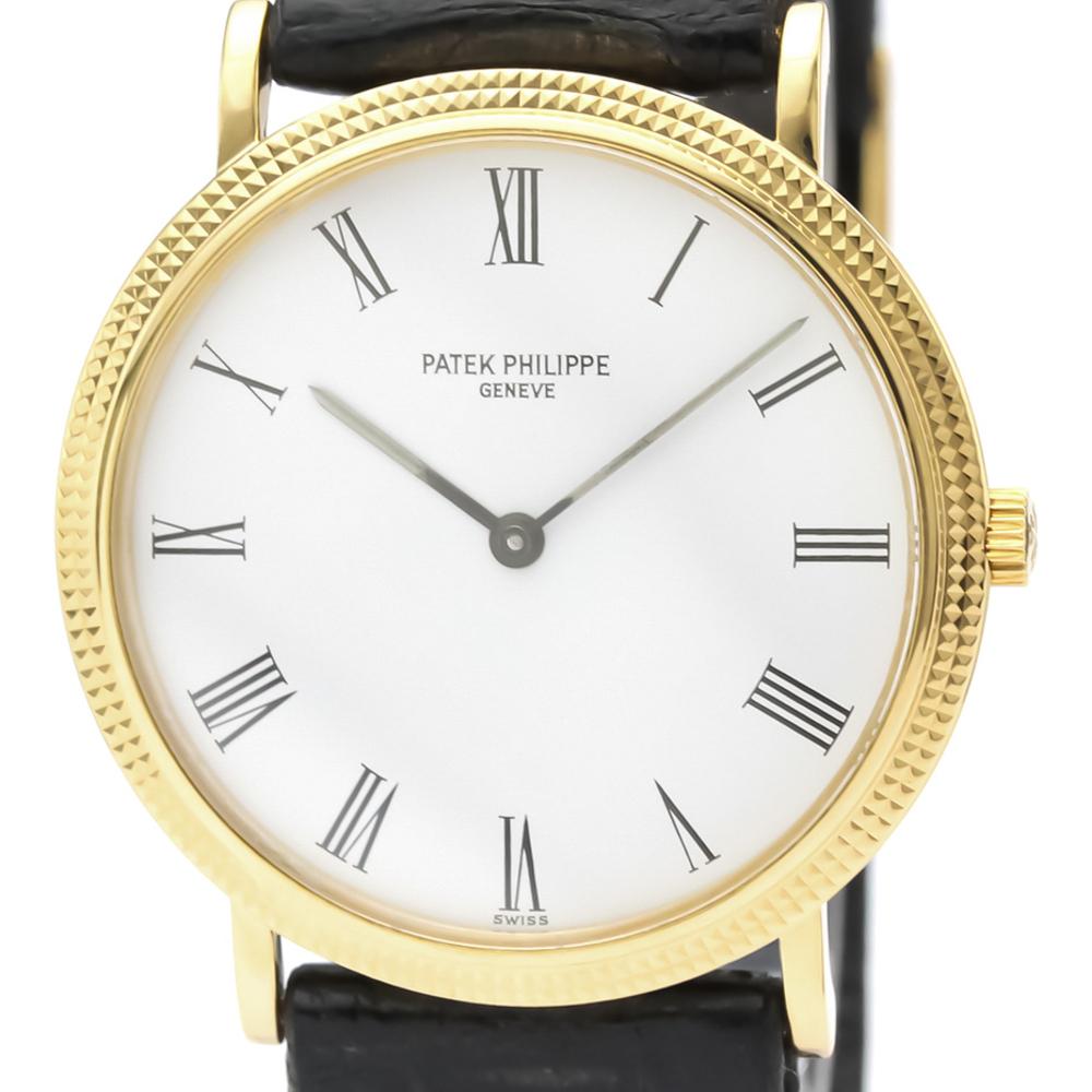 Patek Philippe Calatrava Quartz Yellow Gold (18K) Men's Dress Watch 3954J