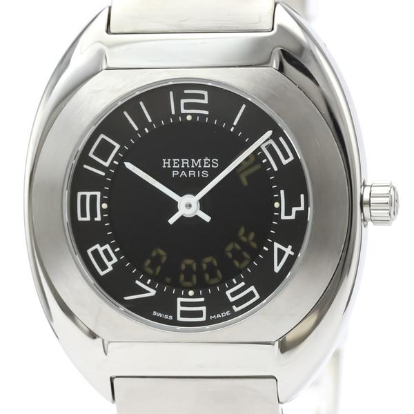 【HERMES】エルメス エスパス ステンレススチール クォーツ レディース 時計 ES1.210