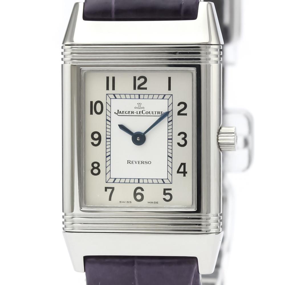 Jaeger LeCoultre Reverso Quartz Stainless Steel Women's Dress Watch 260.8.47