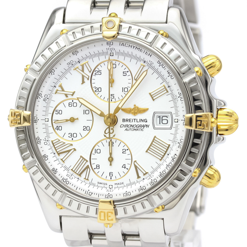 Breitling Crosswind Automatic Stainless Steel,Yellow Gold (18K) Men's Sports Watch B13055