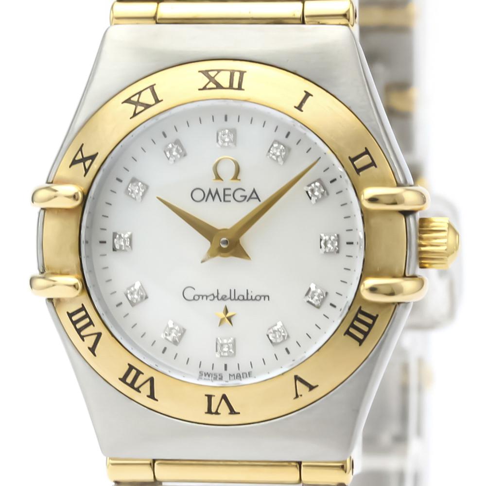 Omega Constellation Quartz Stainless Steel,Yellow Gold (18K) Women's Dress Watch 1262.75