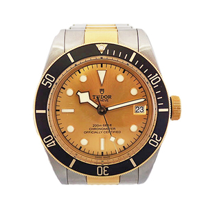 Auth Tudor Black Bay Automatic Stainless Steel,Yellow Gold Men's Watch Heritage