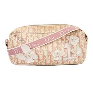 クリスチャンディオール ショルダーバッグ トロッター キャンバス ピンク