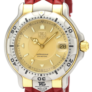 Tag Heuer 6000 Series Quartz Stainless Steel,Yellow Gold (18K) Men's Dress Watch WH1153