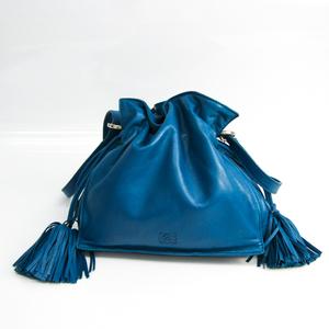 ロエベ(Loewe) フラメンコ レディース レザー ショルダーバッグ ブルー
