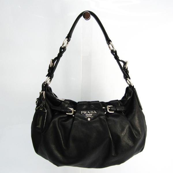 Prada Women's Leather Shoulder Bag Black