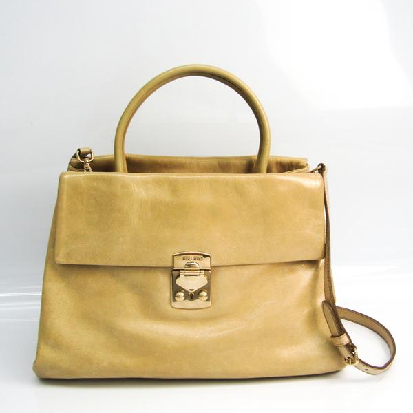 Miu Miu Women's Leather Handbag,Shoulder Bag Ivory