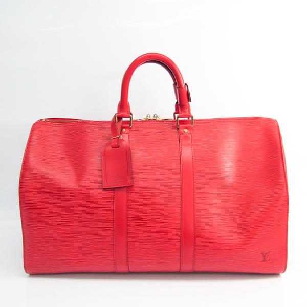 Louis Vuitton Epi Keepall 45 M42977 Boston Bag Castilian Red