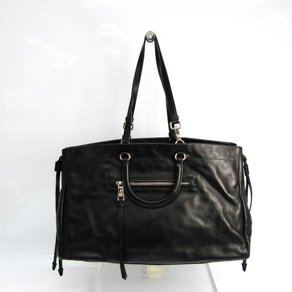 Prada Women's Leather Handbag,Tote Bag Black