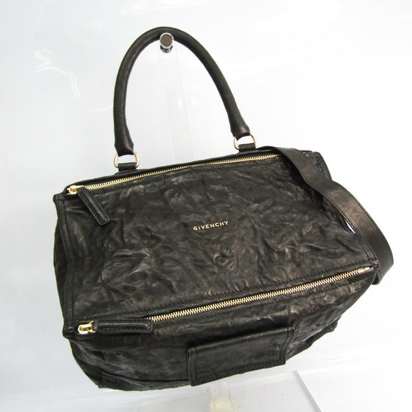 Givenchy Pandora Large 11L5252004 Women's Leather Handbag,Shoulder Bag Black