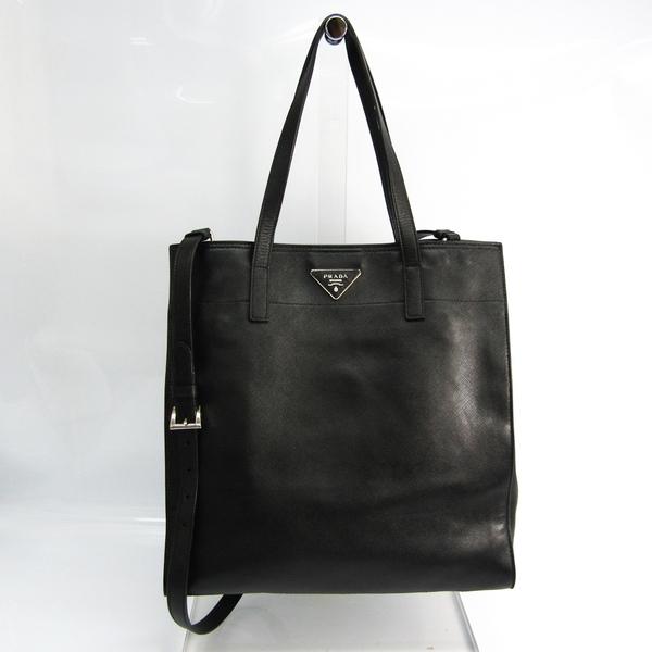 Prada Saffiano Unisex Saffiano Shoulder Bag,Tote Bag Black