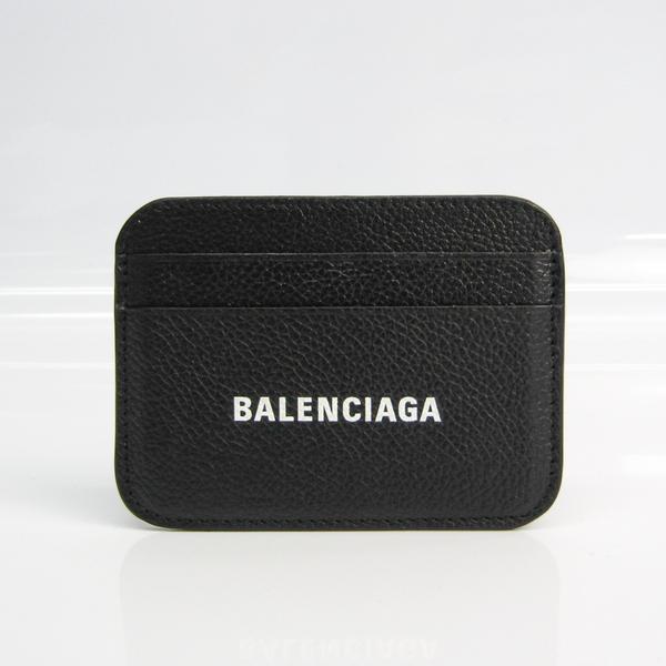 Balenciaga 593812 Leather Card Case Black,White